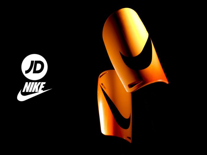 NIKE football shin pads and gloves