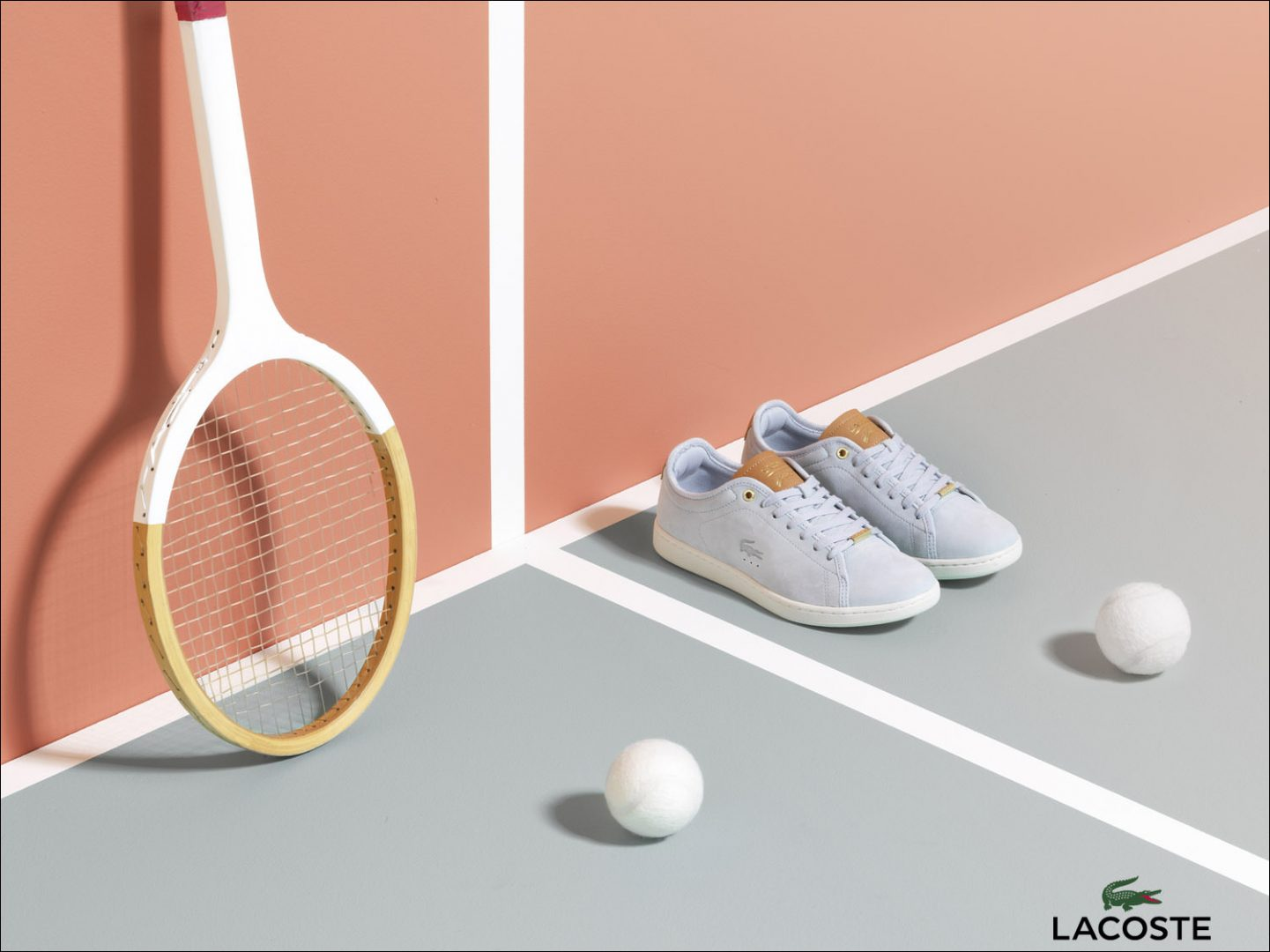 Footwear photography for Lacoste in the studio.