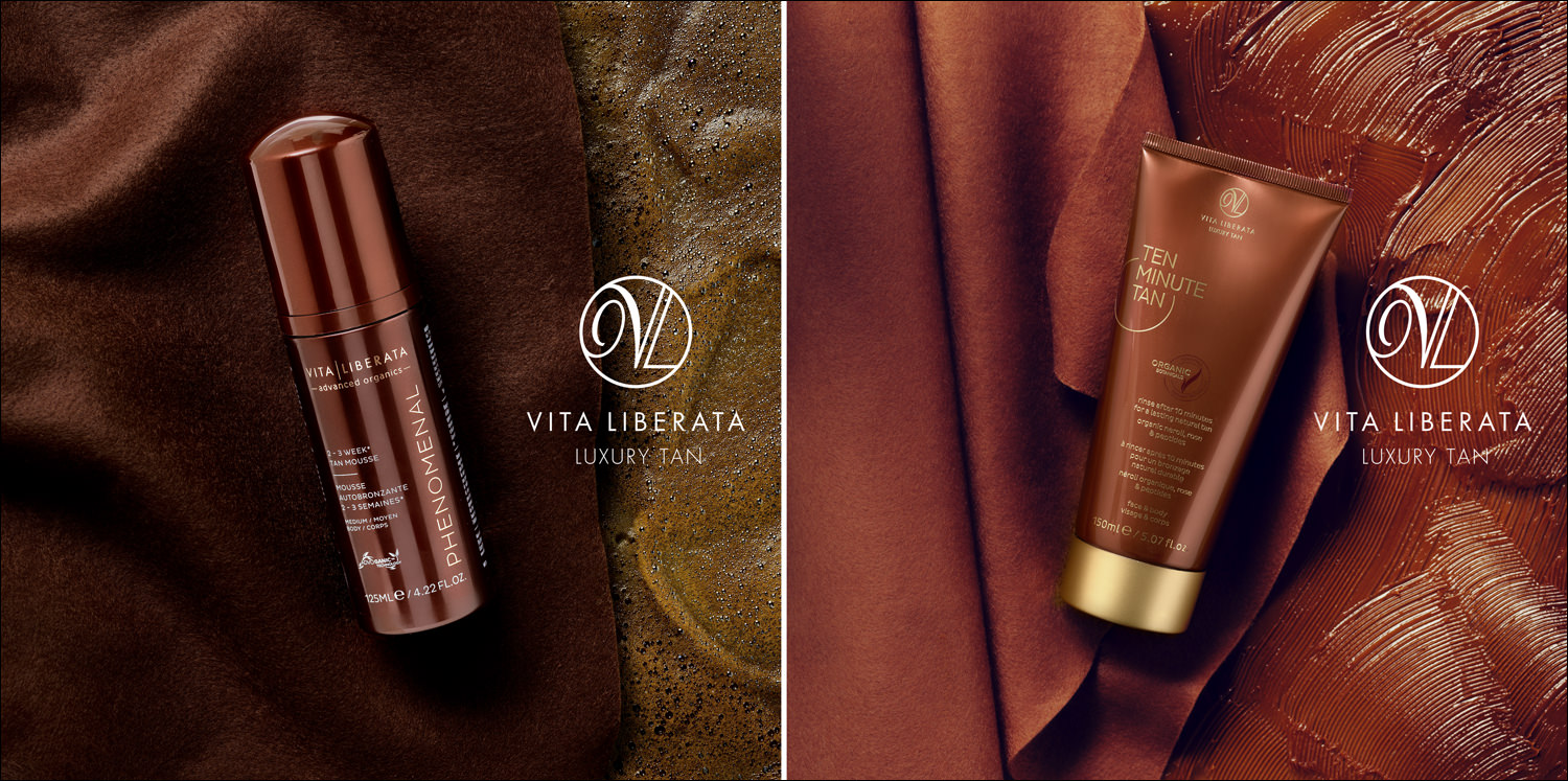 beauty product photography for Vita Liberata. the creative concept for this shoot Matthew came up with and all the studio product photography and lighting by Matthew Seed too.