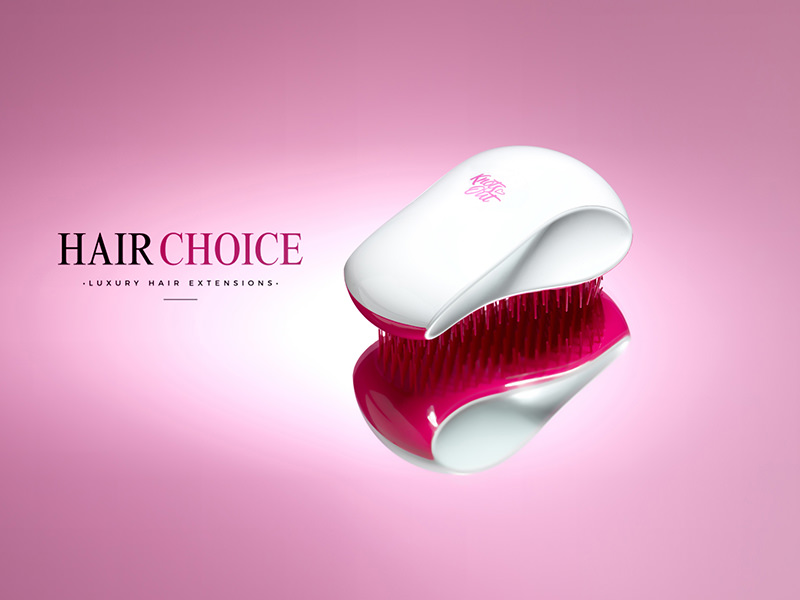 hair product photography